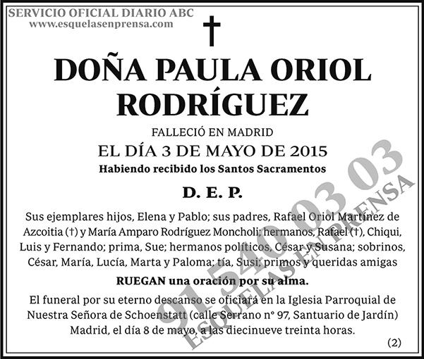 Paula Oriol Rodríguez